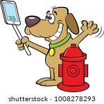 cartoon illustration of a dog... | Shutterstock .eps vector #1008278293