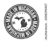 made in michigan state usa... | Shutterstock .eps vector #1008290407