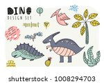 set of dinosaurs. vector... | Shutterstock .eps vector #1008294703
