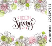 hello spring vector text.... | Shutterstock .eps vector #1008297973