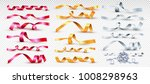 set of red  gold and silver... | Shutterstock .eps vector #1008298963