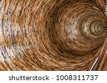infinite well from books in the ... | Shutterstock . vector #1008311737