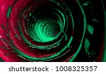 glowing tunnel from twisted... | Shutterstock . vector #1008325357