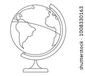 geographic planet icon. outline ... | Shutterstock . vector #1008330163