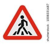 crosswalk icon. flat...   Shutterstock . vector #1008331687