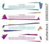 geometric banners with text | Shutterstock .eps vector #1008332617