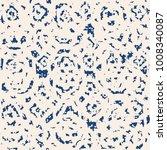indigo vector tie dye seamless... | Shutterstock .eps vector #1008340087