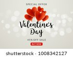 valentines day sale vector... | Shutterstock .eps vector #1008342127