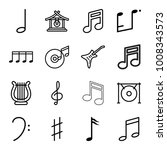 melody icons. set of 16... | Shutterstock .eps vector #1008343573