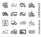 deliver icons. set of 16...   Shutterstock .eps vector #1008343633