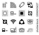 connect icons. set of 16... | Shutterstock .eps vector #1008343657