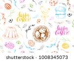 vector seamless spring pattern. ... | Shutterstock .eps vector #1008345073
