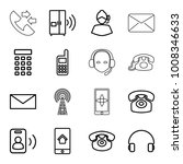 contact icons. set of 16... | Shutterstock .eps vector #1008346633