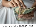 american dollars bank note in... | Shutterstock . vector #1008351637
