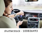 woman driving a car | Shutterstock . vector #100836493