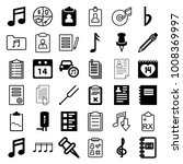 note icons. set of 36 editable... | Shutterstock .eps vector #1008369997