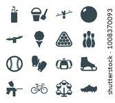 recreation icons. set of 16...   Shutterstock .eps vector #1008370093