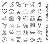 medical icons. set of 36... | Shutterstock .eps vector #1008370267