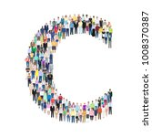letter c  group of people  ... | Shutterstock .eps vector #1008370387