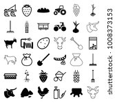 agriculture icons. set of 36... | Shutterstock .eps vector #1008373153