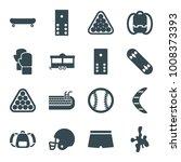 recreation icons. set of 16...   Shutterstock .eps vector #1008373393