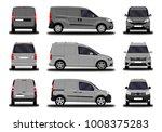 realistic cargo van. front view ... | Shutterstock .eps vector #1008375283