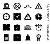 alarm icons. set of 16 editable ... | Shutterstock .eps vector #1008375793