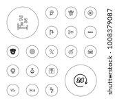 editable vector night icons ... | Shutterstock .eps vector #1008379087