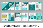 Brochure creative design. Multipurpose template with cover, back and inside pages. Trendy minimalist flat geometric design. Vertical a4 format. | Shutterstock vector #1008386917