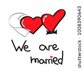 heart girl and heart boy in... | Shutterstock .eps vector #1008390643