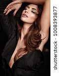 portrait of a sensual ... | Shutterstock . vector #1008393877