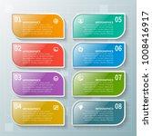 vector abstract 3d paper... | Shutterstock .eps vector #1008416917