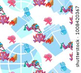 fish and sea anemone  pattern... | Shutterstock .eps vector #1008420367