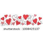 valentines day line background. ... | Shutterstock .eps vector #1008425137