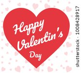 valentine's day poster. flat... | Shutterstock .eps vector #1008428917