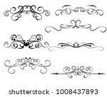 set of decorative florish...   Shutterstock .eps vector #1008437893