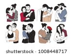 collection of romantic couples... | Shutterstock .eps vector #1008448717