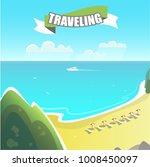 island trip among the ocean | Shutterstock .eps vector #1008450097