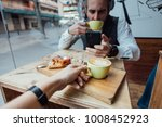 happy and loving hipster... | Shutterstock . vector #1008452923