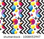colorful seamless glitch... | Shutterstock .eps vector #1008452947