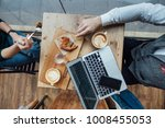 table top photo of two friends... | Shutterstock . vector #1008455053