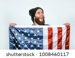 crazy hipster guy emotions.... | Shutterstock . vector #1008460117