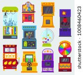 game machine vector arcade... | Shutterstock .eps vector #1008460423