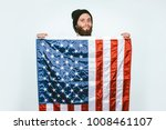 photo bearded young man wearing ... | Shutterstock . vector #1008461107