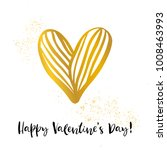 happy valentines day. gold... | Shutterstock .eps vector #1008463993