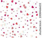 heart confetti of valentines... | Shutterstock .eps vector #1008466633