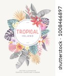 tropical hawaiian vintage... | Shutterstock .eps vector #1008466897
