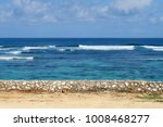 pandawa beach surfing waves ... | Shutterstock . vector #1008468277