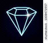 diamond.diamond neon vector.... | Shutterstock .eps vector #1008473557