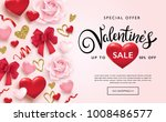 valentines day sale poster with ... | Shutterstock .eps vector #1008486577